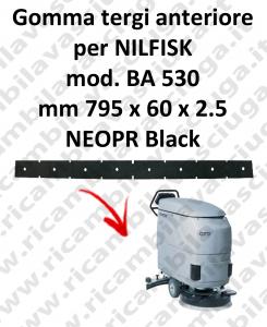 BA 530 - GOMMA TERGI anteriore per lavapavimenti Nilfisk