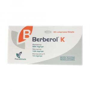 BERBEROL K - INTEGRATORE A BASE DI BERBERINA PER CONTROLLARE IL COLESTEROLO