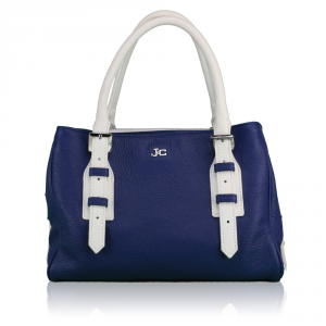 Hand and shoulder bag J&C JackyCeline  B107-01 BLU-BIANCO