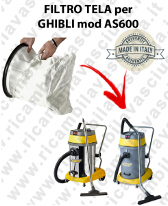 SACCO FILTRO NYLON cod: 3001220 PER aspirapolvere GHIBLI modello AS600