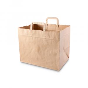 Shopper carta riciclata 90gr fondo largo per asporto maxi -32x22x27