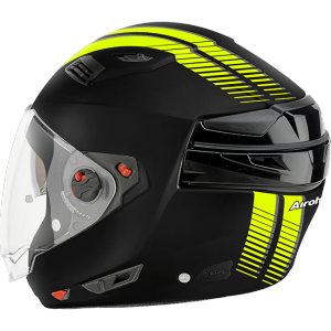 CASCO MOTO AIROH MODULARE EXECUTIVE S STRIPES YELLOW MATT EXS31