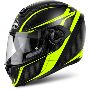 CASCO MOTO AIROH STORM SHARPEN YELLOW MATT STSH31
