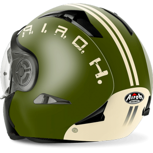 CASCO MOTO AIROH J 106 SMOKE GREEN MATT J6SM70