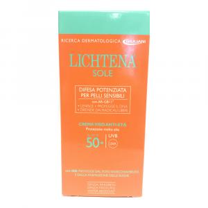 LICHTENA SOLE - CREMA VISO ANTIETA' SPF 50+, LENISCE, PROTEGGE IL DNA, PER PELLI SENSIBILI
