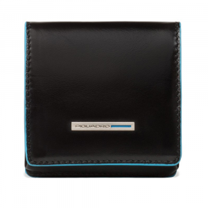 Coin holder  Piquadro Blue square PU2634B2 Nero