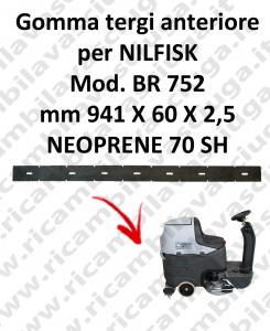 Gomma tergi anteriore per lavapavimenti NILFISK modello BR 752