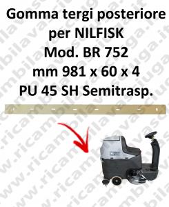 Gomma tergi posteriore per lavapavimenti NILFISK modello BR 752