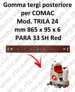 TRIPLA 24 B GOMMA TERGI posteriore Comac