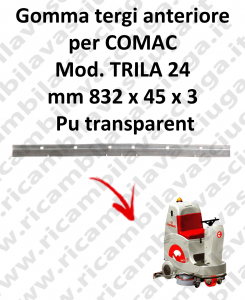 TRIPLA 24 B GOMMA TERGI anteriore Comac
