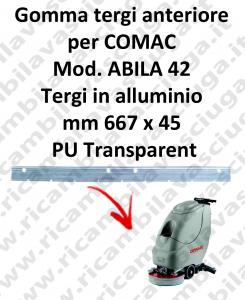 Gomma tergipavimento anteriore per lavapavimenti COMAC ABILA 42