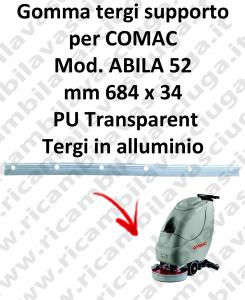 Gomma tergipavimento supporto per lavapavimenti COMAC ABILA 52