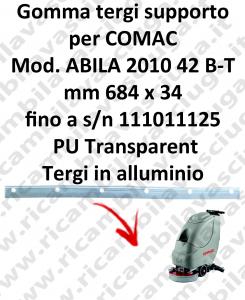 Gomma tergipavimento supporto per lavapavimenti COMAC ABILA 42 B - BT