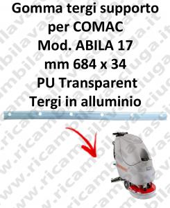 Gomma tergipavimento supporto per lavapavimenti COMAC ABILA 17