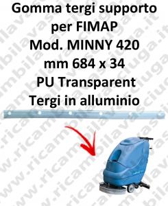 Gomma tergipavimento supporto per lavapavimenti FIMAP MINNY 420