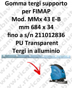 Gomma tergipavimento supporto per lavapavimenti FIMAP MMx 43 B-E
