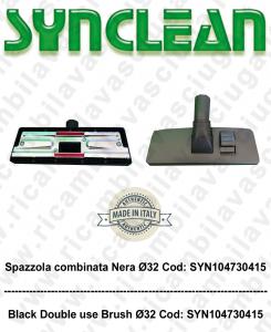 Spazzola combinata nera ø32 per aspirapolvere - SYNCLEAN COD: SYN104730415