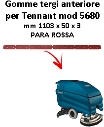 5400 GOMMA TERGI anteriore PARA rosa per lavapavimenti TENNANT