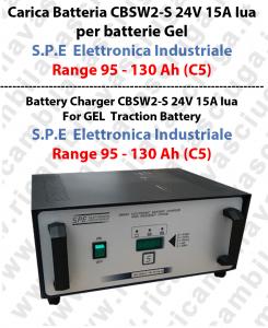Carica Batteria CBSW2-S 24V 15A Iua per batterie Gel Range 95 - 130 Ah (C5) - S.P.E