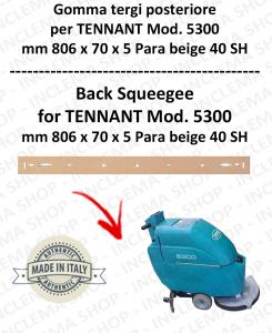 5300 GOMMA TERGI posteriore PARA beige per lavapavimenti TENNANT 40 SH