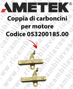 COPPIA di Carboncini Motore aspirazione per motore Ametek 064200005.00 2 x Cod: 053200185.00