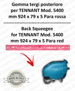 5400 GOMMA TERGI posteriore PARA rossa per lavapavimenti TENNANT