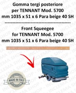 5700 GOMMA TERGI posteriore Para beige per lavapavimenti TENNANT - squeegee 700 mm