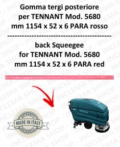 5680 GOMMA TERGI posteriore PARA rossa per lavapavimenti TENNANT - squeegee 800 mm