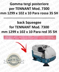 7300 GOMMA TERGI posteriore PARA rossa per lavapavimenti TENNANT - 1000 mm