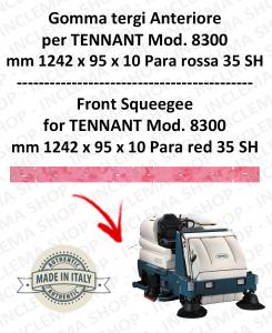 8300 GOMMA TERGI anteriore PARA rossa per lavapavimenti TENNANT - squeegee 1000 mm