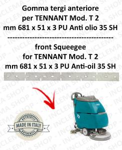 T 2 GOMMA TERGI Anteriore PU Anti olio 35 SH per lavapavimenti TENNANT