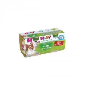 HIPP BIOLOGICO POLLO E VITELLO - OMOGENIZZATO DAL 4 MESE COMPIUTO