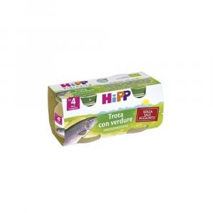 HIPP BIOLOGICO TROTA CON VERDURE - OMOGENIZZATO DAL 4 MESE COMPIUTO