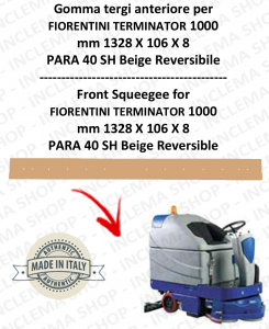 TERMINATOR 1000 - GOMMA TERGI posteriore per lavapavimenti FIORENTINI