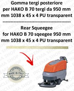 B 70 ( tergi da 950 mm) GOMMA TERGI posteriore per lavapavimenti  HAKO