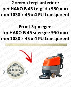 B 45 - GOMMA TERGI  da 950 mm anteriore per lavapavimenti HAKO