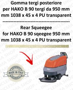 B 90 - GOMMA TERGI da 950 mm posteriore per lavapavimenti HAKO