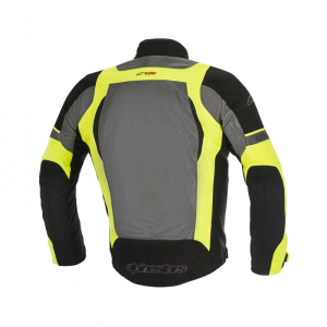 GIACCA MOTO ALPINESTARS AMOK AIR DRYSTAR JACKET BLACK DARK GRAY YELLOW FLUO