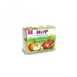 HIPP BIOLOGICO FRUTTA GRATTUGIATA MELA PESCA - DAL 4 MESE COMPIUTO
