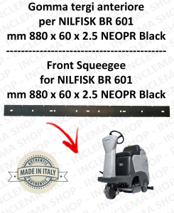 BR 601 - GOMMA TERGI anteriore per lavapavimenti NILFISK
