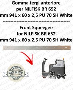 BR 652 - GOMMA TERGI anteriore per lavapavimenti NILFISK