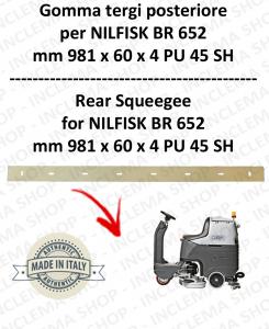 BR 652 -  GOMMA TERGI posteriore per lavapavimenti NILFISK