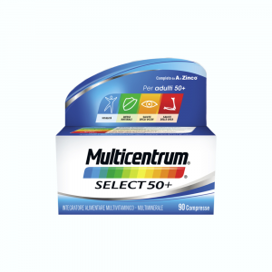 MULTICENTRUM SELECT 50+ INTEGRATORE MULTIVITAMINICO-MULTIMINERALE OLTRE I 50 ANNI