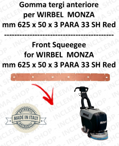 MONZA 385 B GOMMA TERGI anteriore per lavapavimenti  WIRBEL