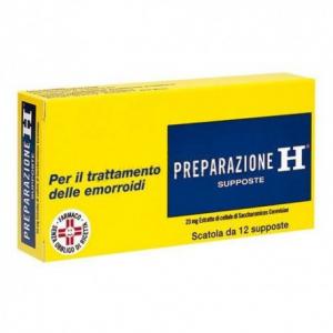 PREPARAZIONE H SUPPOSTE 23 MG TRATTAMENTO EMORROIDI 12 SUPPOSTE