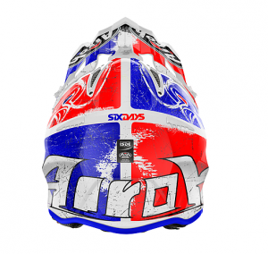CASCO MOTO CROSS AIROH AVIATOR 2018 SIX DAYS RED GLOSS AV22SD855