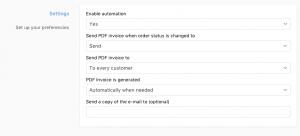 Storeden app - screenshot 1 - Automatic invoicing