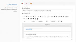 Storeden app - screenshot 2 - Automatic invoicing