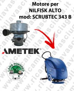 SCRUBTEC 343 B MOTORE aspirazione LAMB AMETEK per lavapavimenti NILFISK ALTO