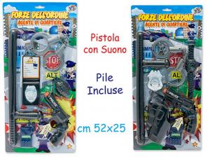BL. POLIZIA CON PISTOLA PILE INCLUSE 62277 TEOREMA